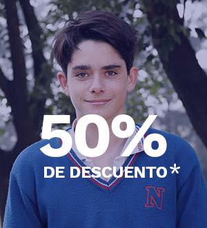 50% Asistencia financiera Colegio